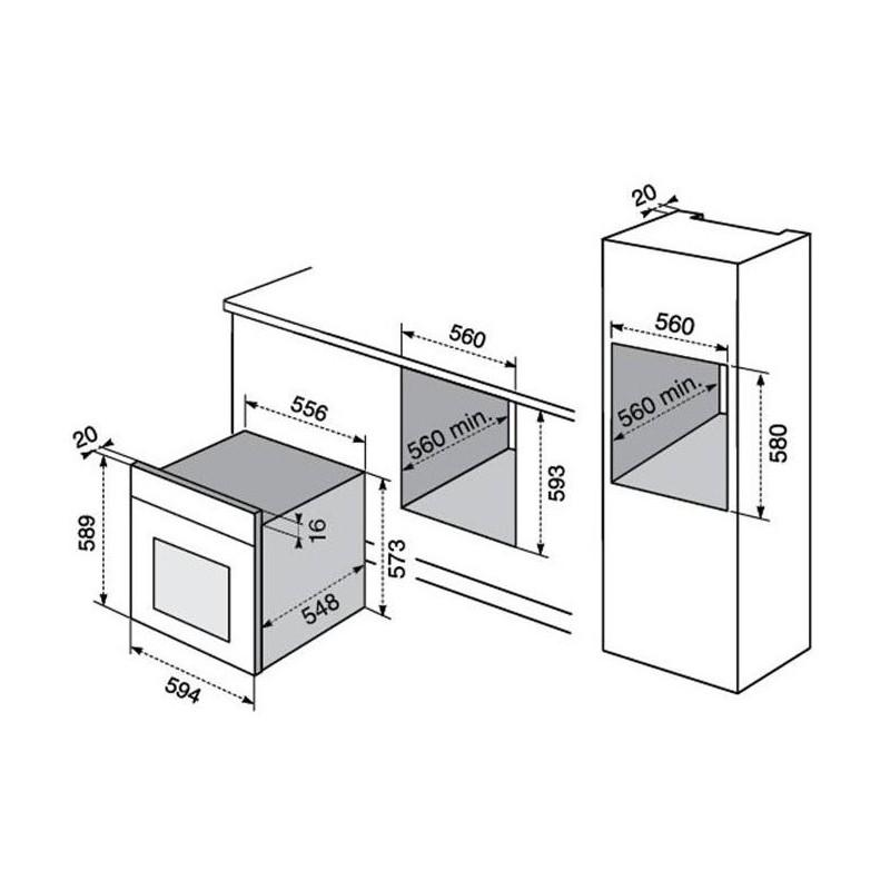 Electrolux rex fq13x for Lavastoviglie misure standard