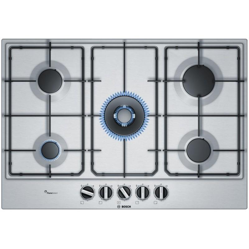 Bosch pcq7a5b80 - Table de cuisson mixte gaz induction 5 feux ...