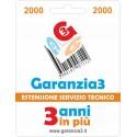 GARANZIA3 - ESTENSIONE DI GARANZIA 2000€